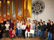 Die Konfirmandengruppe der Ev. Stadtkirche Waldkirch, BW