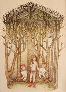 Les enfants dans les bois