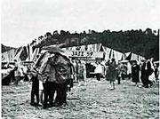 Le podium 1959 et la pluie