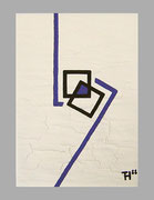"De Toys: ""ATMA (Sekretseele)"", 1988 (Dispersionsfarbe+Sand auf Hartfaserplatte)"