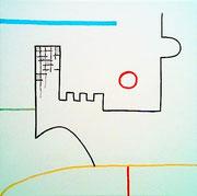 """A&A - 1 BIßCHEN UNTERGANG"" (c) De Toys, 27.4.2007 (Leinwand 30x30cm)"