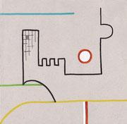 """2.Vorstudie für """"A&A - 1 BIßCHEN UNTERGANG"""" (c) De Toys, 27.4.2007 (Karton)"""