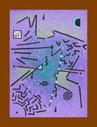 """De Toys: """"EROTOMAGIE"""", 1988 (Dispersionsfarbe+Sand auf Hartfaserplatte)"""