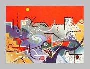 """De Toys: """"PRESENT"""", 1989 (Dispersionsfarbe+Sand auf Hartfaserplatte)"""