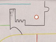"""1.Vorstudie für """"A&A - 1 BIßCHEN UNTERGANG"""" (c) De Toys, 27.4.2007 (Karton)"""