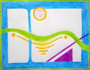 """Prozesspause im Anfangsstadium: """"DIE CHEMIE DER SEELE"""" (c) De Toys, 20.2.2014 (DinA3-Zeichnung)"""