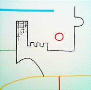 """AA - 1 BIßCHEN UNTERGANG"" (1), De Toys 27.4.2007 (aufgezogene Leinwand 30x30cm)"