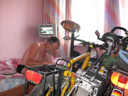 Fahrrad im Zimmer ist fast Standart