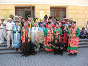 Burijatenfestival in Irkutsk,sie kommen aus verschiedenen Gebieten