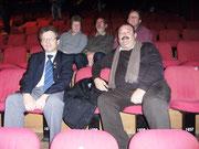 Le petit groupe de supporters avec Alain Joyeux en haut à droite