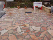 pierres en quartzite rose du Brésil