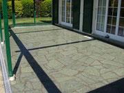 Terrasse en quartzite vert