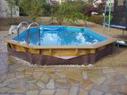 Tour de piscine en quartzite jaune du Brésil