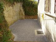 Coupe de molasse pour agrandissement terrasse