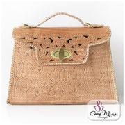 Ledertasche Damen Handtasche Leder Schultertasche Messenger Shopper weiß Casa Mina Design