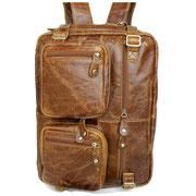 Ledertasche vintage Aktentaschen Lederrucksack Multifunktionstasche Rucksack