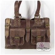 Satteltasche City Bag Cowgirl Cowboy Ledertasche Casa Mina Design, braun