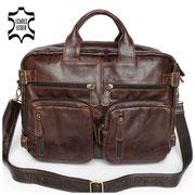 Rucksack Aktentasche Multifunktion Lederrucksack Ledertasche Lederaktentasche