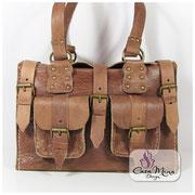 Satteltasche City Bag Cowgirl Cowboy Ledertasche Casa Mina Design, cognac