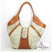 Felltaschen Fell Tasche Ledertaschen Damen Leder Shopper Hobo weiß Handarbeit Casa Mina Design