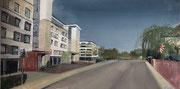 2021 Landskronstraße Acryl auf Holz 98x50 cm 740,-€
