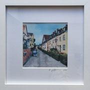 Fischenicher Str. Fotoprint im Passepartout und Rahmen 25x25cm 30,-€