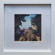 Blick Paul-Nießen-Str. Fotoprint im Passepartout und Rahmen 25x25cm 30,-€