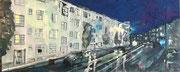 2016 Höninger Weg bei Nacht 86x32cm  590,-€