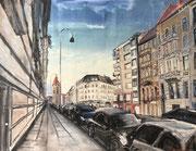 2017 Roonstraße(2) 101x77cm  900,-€ (bei mir im Atelier)