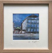 Höninger Weg Fotoprint im Passepartout und Rahmen 25x25cm 30,-€