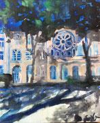 2017 Synagoge 33x40cm -verkauft-