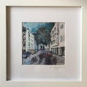 Zollstock-Arkaden Fotoprint im Passepartout und Rahmen 25x25cm 30,-€