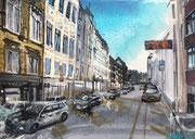 2017 Lindenstraße 71x50cm 600,-€ (bei mir im Atelier)