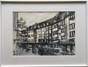 2017 Skizze A4 gerahmt 40x30cm Höninger Weg 200,-€  (hängt aktuell im Zollstocker Hof)