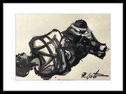 2017 Shibariabend 20.10.17-11 DinA4-Skizze gerahmt 30x40 cm -verkauft-