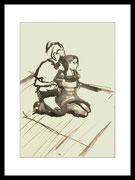 2017 Shibariabend 23.09.17-5 DinA4-Skizze gerahmt 30x40 cm -verkauft-