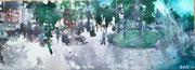 2017 Rathenauplatz 126x46cm  860,-€ (bei mir im Atelier)
