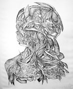 """""""Vers le présent""""/eau forte/50x40cm/2013."""