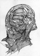 """""""Reproduit""""/crayon sur papier/29,7x21cm/2013."""