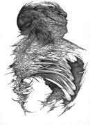 """""""Les Ruines""""/crayon sur papier/42x29,7cm/janvier 2013."""
