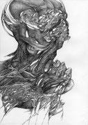 """""""Sans titre""""/crayon sur papier/29,7x21cm/2013."""