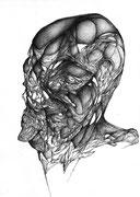 """""""L'organe""""/crayon sur papier/30x21cm/2013."""