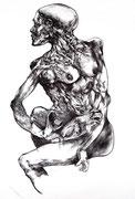 """""""Sans titre""""/fusain sur papier/100x70cm/2011 (collection particulière)"""