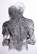 """""""Sans titre""""/Fusain/100x70cm/2012"""