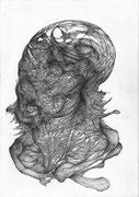 """""""Les dents blanches""""/crayon sur papier/42x29,7cm/2013."""