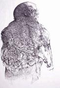 """""""Sans titre""""/Fusain/100x70cm/2012 (collection particulière)"""