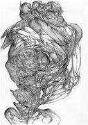 """""""Underdog""""/crayon sur papier/42x29,7cm/2013."""