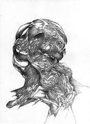 """""""Retour""""/crayon sur papier/29,7x21cm/2013."""