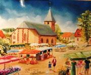 868- Le-Haut-du -Tôt, en direct de la Fête des Plantes, 50 x 70