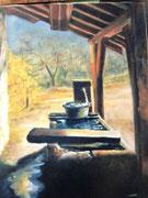 876-Fontaine de la ferme dans la montagne de Rupt-sur-moselle